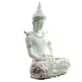 Thai Buddha - Wisdom - white - gloss - 26cm