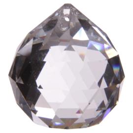 Raamhanger - Kristal - Bol - 4,5 cm - heeft lichte beschadigingen