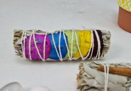Witte Salie - 7 chakra's - Smudge Stick - 10cm