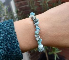 Armband - Larimar - Splitstenen