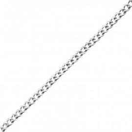 Ketting - vlakte - 925 STERLING ZILVER schakelketting - 41 cm
