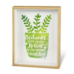 Bedankt - Plant - Wonderful Deco - Tekstbord