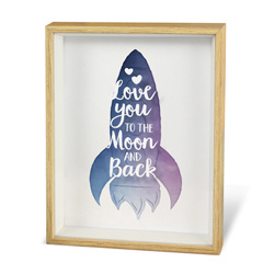 I love you - Raket - Wonderful Deco - Tekstbord