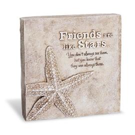 Decoratie tegel - Friends are like stars - Home & Garden - 16,5 cm