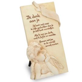 Decoratie tegel - Ik denk aan je - Arts in Stone - 15,5 cm