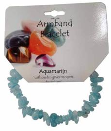 Aquamarijn - ronde splitarmband