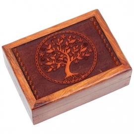 Tarotdoos - Tree of life - Boom des levens - gegraveerd
