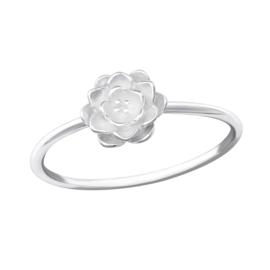 Ring - bloem - 925 Sterling Zilver - Maat 5