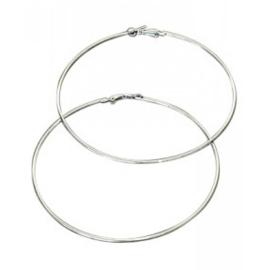 Oorbellen - Ringen - 9 cm - zilverkleur
