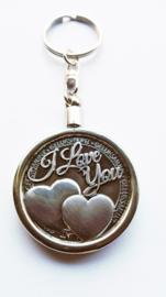 Geluksmunt - Sleutelhanger met munt - I Love You