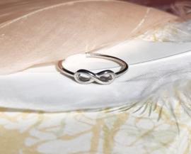 Ring - Infinity - 925 Sterling zilver - maat 6