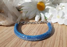 Armband - Ibiza - blauw - glitter