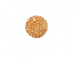 klankbol goud strass steentjes in 16 mm en 20 mm