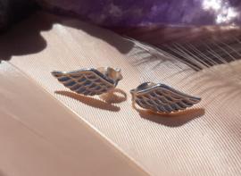 Earrings - wings - silver