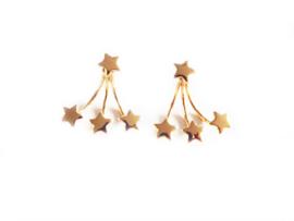 Oorbellen - sterren - goudkleur