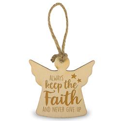 Houten engeltje - Faith - 6 cm