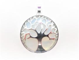 Hanger - Opaliet - Levensboom - Tree of life - 3cm