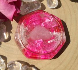 Orgonite - oplaadschijf - 8 cm