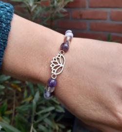 Armband - Lotus - Chevron Amethist - Bergkristal