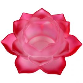 Sfeerlicht - Lotus - glas - Rood