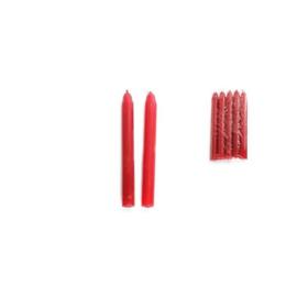 Ritueel kaars - Rood - 15 x 1,5 cm - 5 stuks