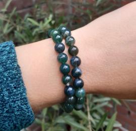 Armband - Mos Agaat - 0,8 cm