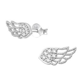 Oorbellen - Vleugels - 925 Sterling Zilver - met zirconia