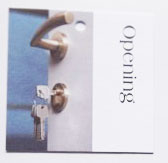 Klein kaartje - Opening - 7 cm