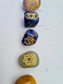 Chakra stenen set - 7 Chakra's - trommelstenen