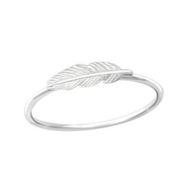 Ring - Veer - 925 Sterling Zilver - Maat 6