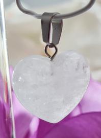 Bergkristal hartje - 2cm