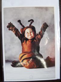 Postkaart met envelop - Rups - Baby - 10,5 x 15 cm