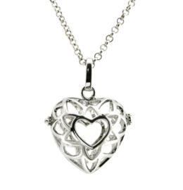 Engelenroeper - 16 mm - zilverkleur - hart