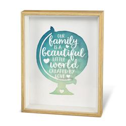 Family - Globe - Wonderful Deco - Tekstbord