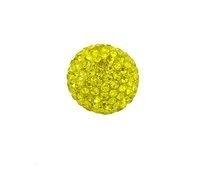 Klankbol geel  met strass steentjes in 16 mm en 20 mm