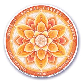 Raamsticker - 2e chakra - oranje - 10,5 cm
