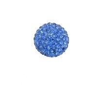 Klankbol - blauw - strass steentjes - 16 mm of 20mm