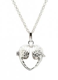 Engelenroeper zilverkleur open hart 16 mm