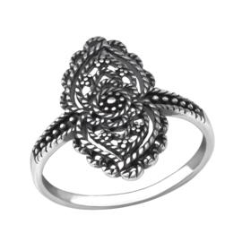 Ring - Antiek (M) 925 Sterling Zilver - Maat 8