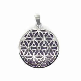 Hanger - Flower of life - Amethist