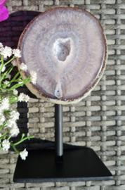 Agaat Geode op standaard - no.8 - 18cm