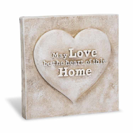 Decoratie tegel - May love be the heart of this home - Home & Garden - 16,5 cm