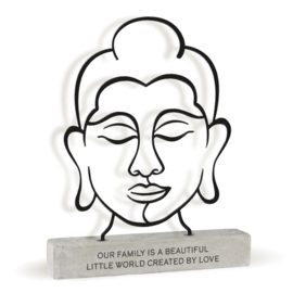 Boeddha - Our Family - Metal Art Deco - 23 cm