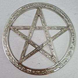 Pentagram - Nikkel - 15 cm