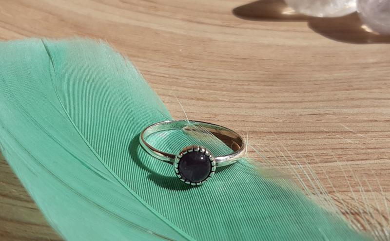 Ring - Rond - Maat 6 - Zilver - Amethist