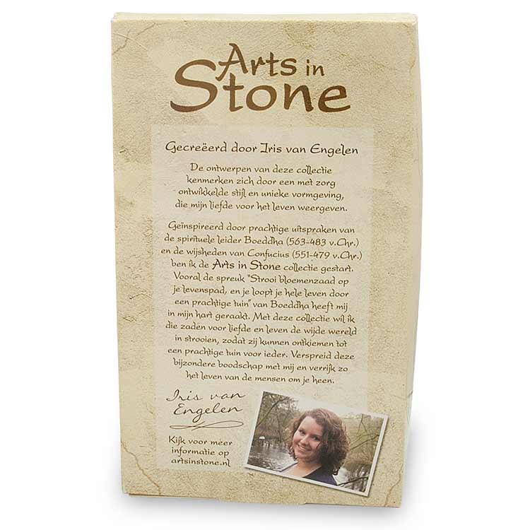 Decoratie tegel - Strooi bloemenzaad - Arts in Stone - 15,5 cm