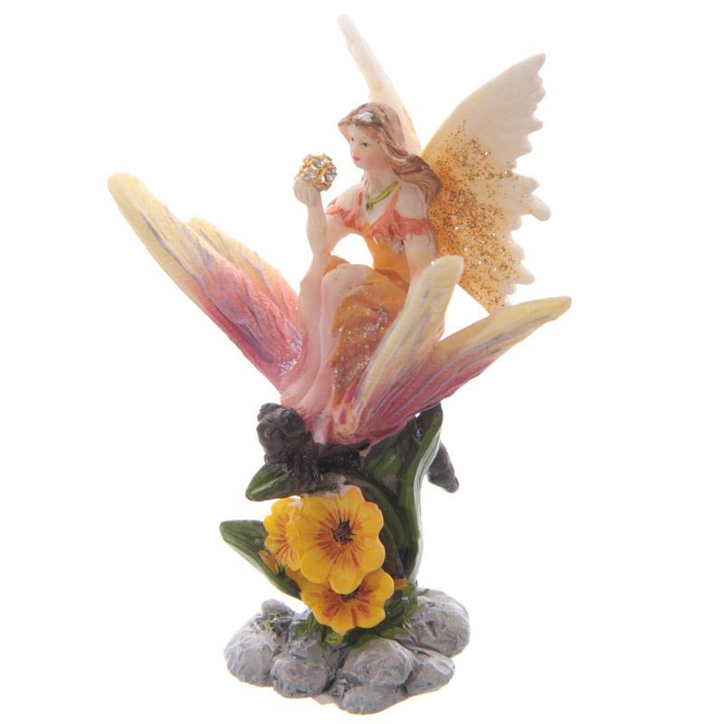 Beeld - Bloemen fee op vlinder - 10 cm - 3 soorten