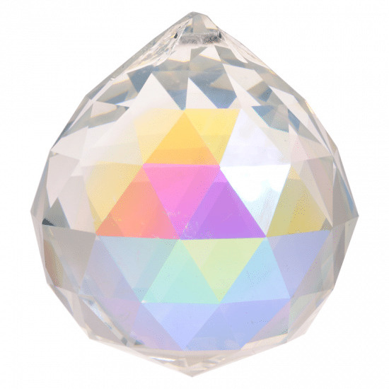 Raamhanger - Regenboog kristal bol - 5 cm - parelmoer - AAA kwaliteit