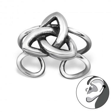 Oorbellen - Oor manchet - Keltische knoop - 925 Sterling Zilver
