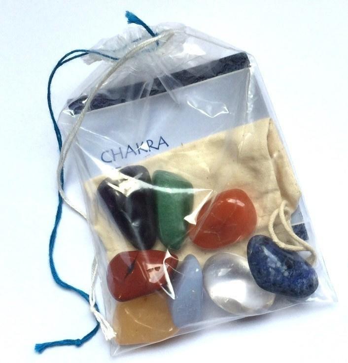 Chakra set - 8 trommelstenen - Medium